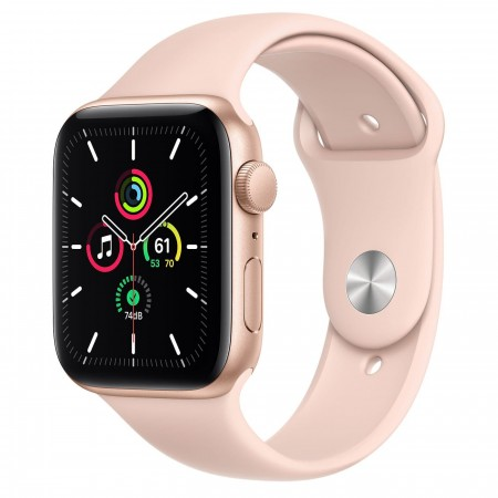 Apple Watch SE 44mm Gold Aluminum Case with Pink Sport Band (MYDR2)