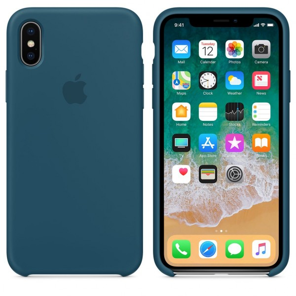 Silicone case на iPhone X/Xs (Cosmos Blue)
