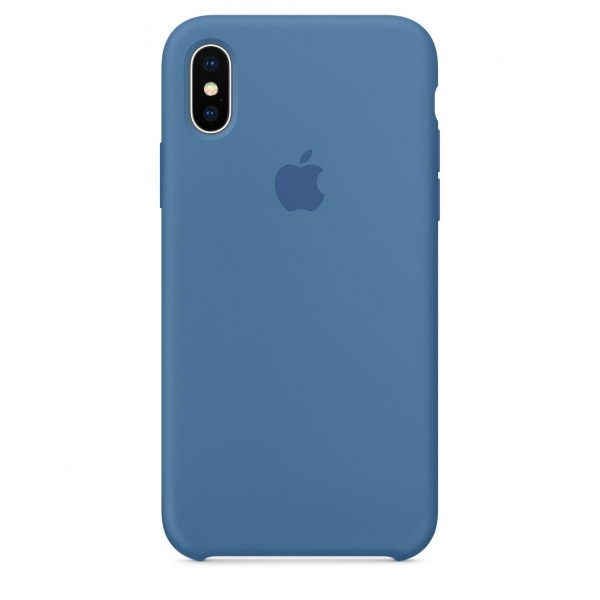 Silicone case на iPhone X/Xs (Denim Blue)