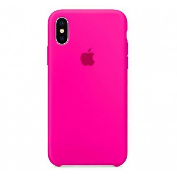 Silicone case на iPhone X/Xs Class 1 (Bright Pink)