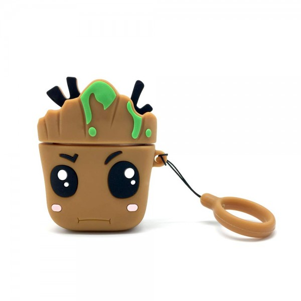 Airpods Cartoon Soft Case (Groot)