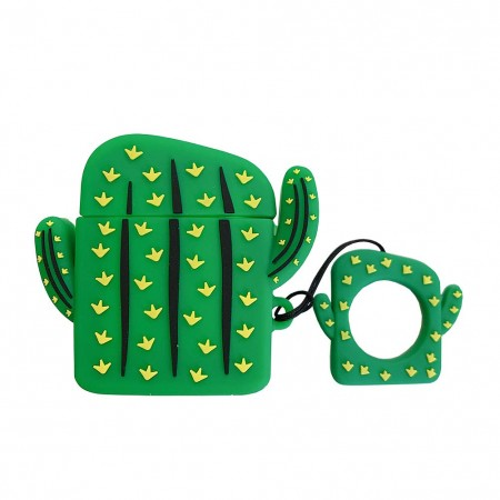 Airpods Cartoon Soft Case (Cactus)