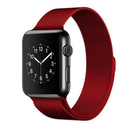 Ремешок Apple Watch Milanese Loop 38mm/40 mm (Rose Red)