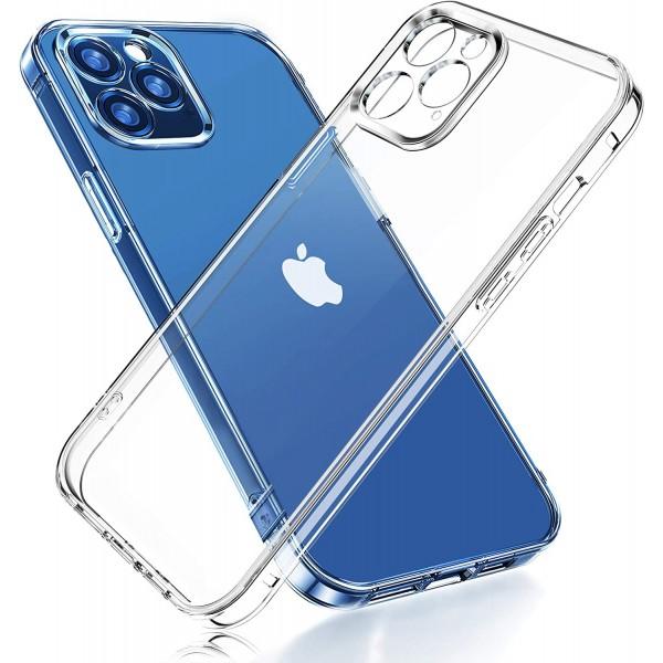 Силиконовая накладка Baseus Simple Case Full Camera для iPhone 12 Pro (Прозрачный)