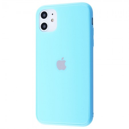 Чехол Glass iPhone case Colorful на iPhone 11 (Blue)