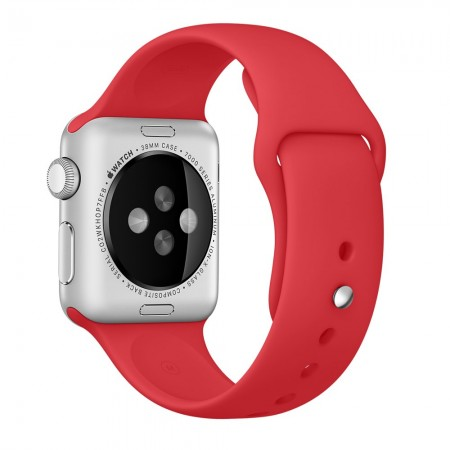 Apple Sport Band for Apple Watch 42mm/44mm (Red)