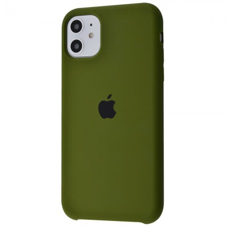Silicone case на iPhone 11 Class 1 (Army green)