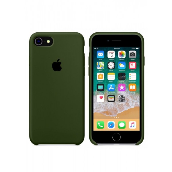 Silicone case на iPhone 7/8/SE2 Class 1 (Army Green)