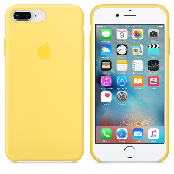 Silicone case на iPhone 7 Plus/8 Plus Class 1 (Canary Yellow)