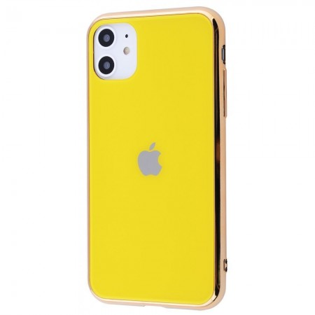 Чехол Glass iPhone case на iPhone 11 (Yellow)