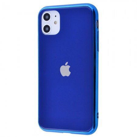 Чехол Glass iPhone case на iPhone 11 (Blue)
