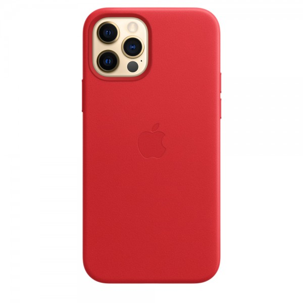 Leather Case with MagSafe для iPhone 12 Pro Max (Red)
