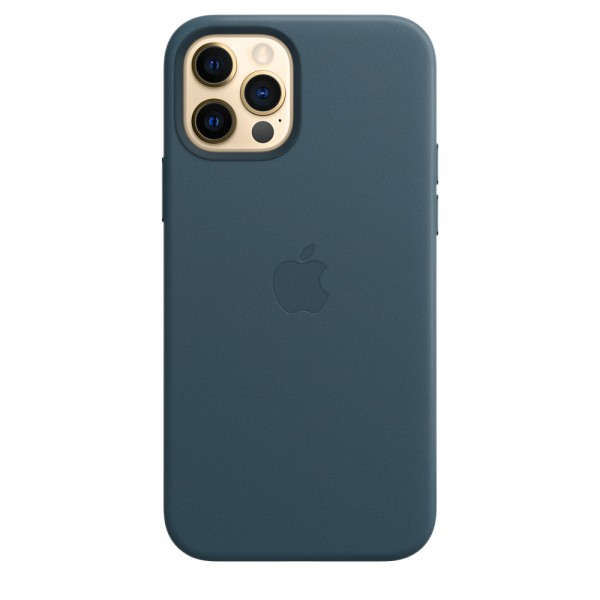 Leather Case with MagSafe для iPhone 12 Pro Max (Baltic Blue)