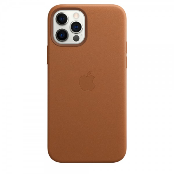 Leather Case with MagSafe для iPhone 12/12 Pro (Saddle Brown)