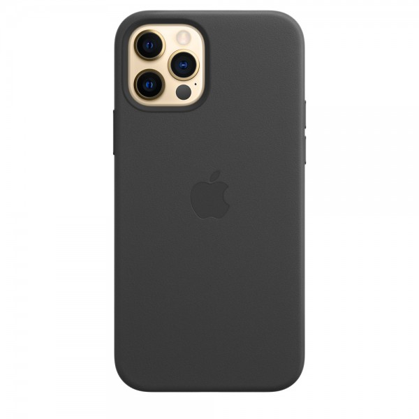 Leather Case with MagSafe для iPhone 12/12 Pro (Black)