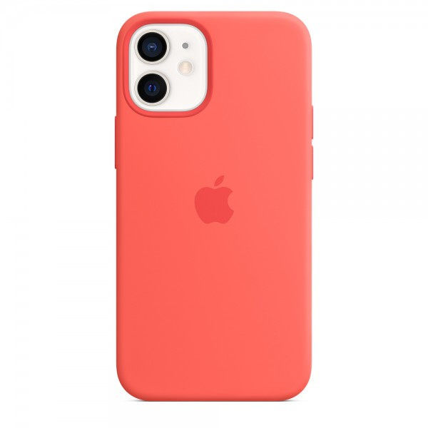 Silicone case на iPhone 12 mini (Pink Citrus)