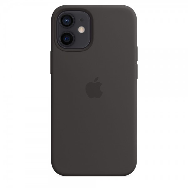Silicone case на iPhone 12 mini (Black)