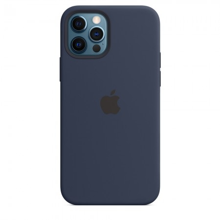 Silicone case на iPhone 12 Pro Max (Deep navy)