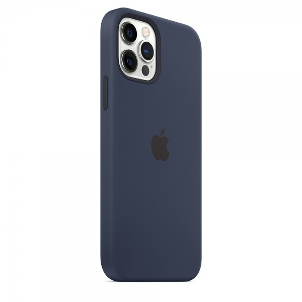 Silicone case Magsafe на iPhone 12/12 Pro (Deep navy)