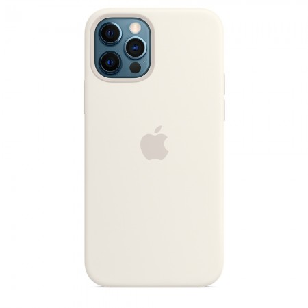 Silicone case Magsafe на iPhone 12/12 Pro (White)