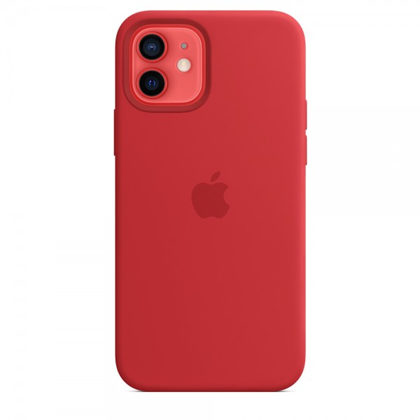 Silicone case Magsafe на iPhone 12/12 Pro (Red)