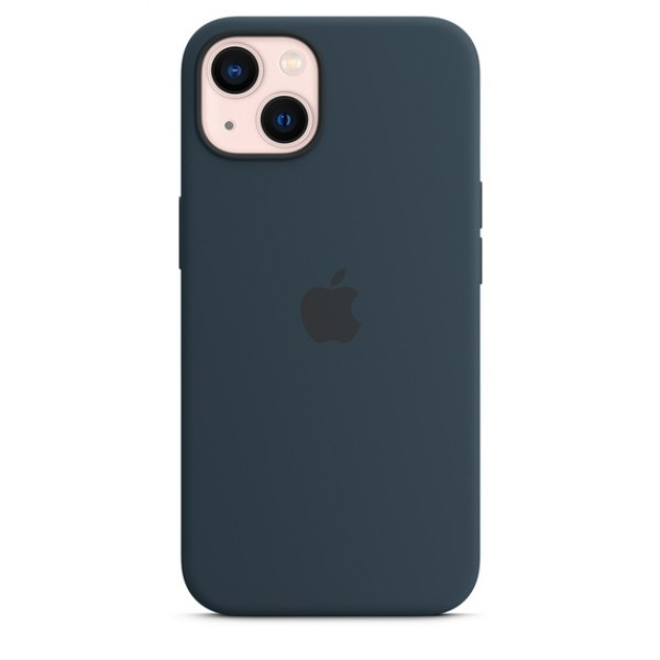 Silicone case на iPhone 13 (Abyss Blue)