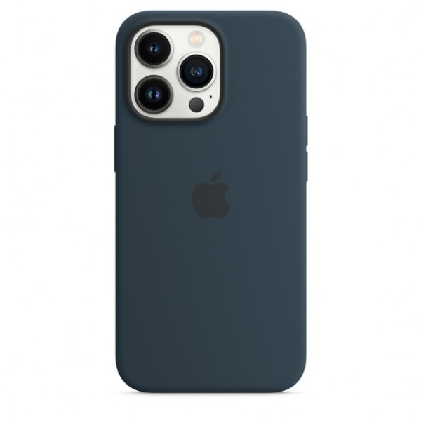 Silicone case на iPhone 13 Pro Max (Abyss Blue)