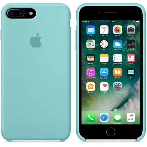Silicone case на iPhone 7 Plus/8 Plus Class 1 (Turquoise)