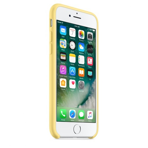 Silicone case на iPhone 7/8/SE2 Class 1 (Yellow)