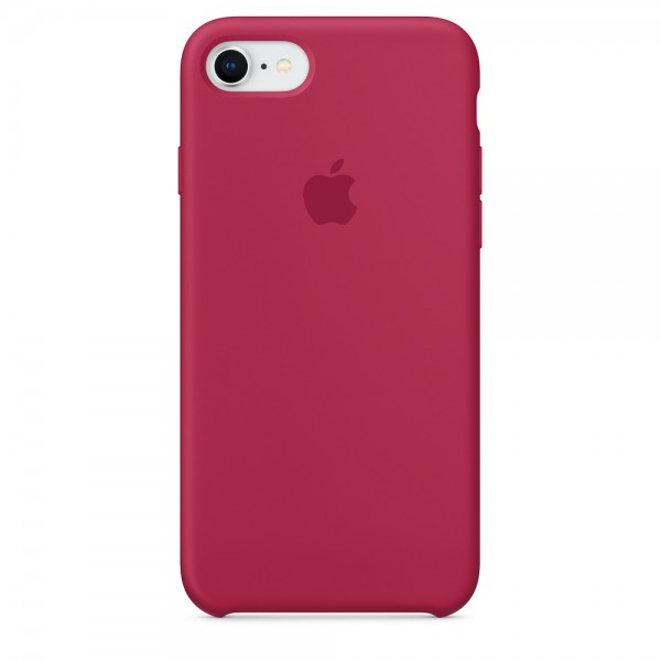 Silicone case на iPhone 7/8/SE2 class 1 (Rose Red)