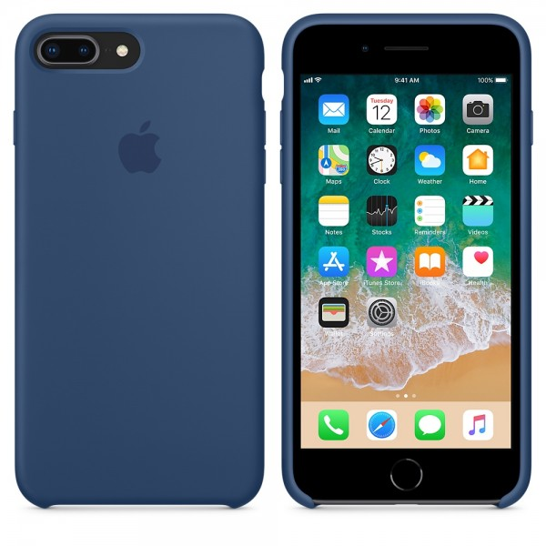 Silicone case на iPhone 7 Plus/8 Plus Class 1 (Blue Cobalt)