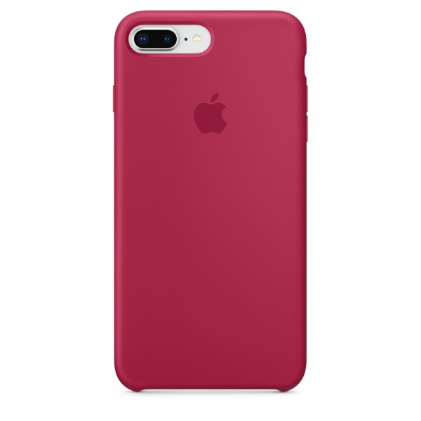 Silicone case на iPhone 7 Plus/8 Plus (Rose Red)