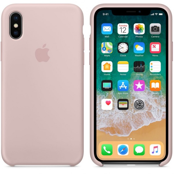 Silicone case на iPhone X/Xs (Pink Sand)