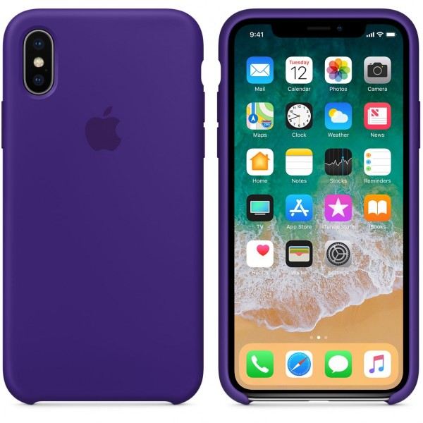 Silicone case на iPhone X/Xs (Ultra Violet)
