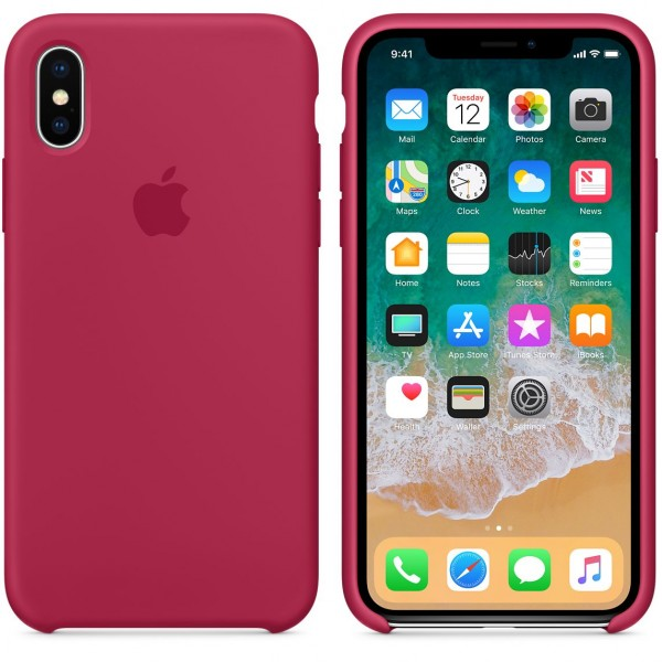 Silicone case на iPhone X/Xs Class 1 (Rose Red)