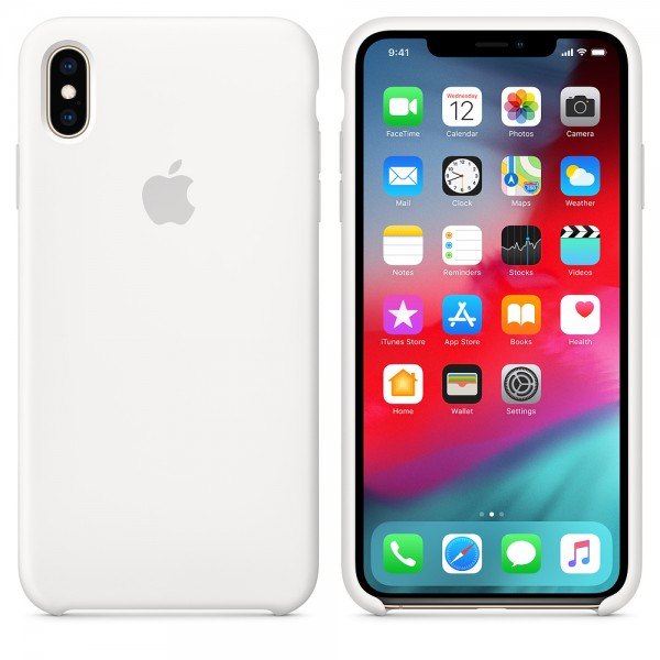 Silicone case на iPhone Xs Max (White)