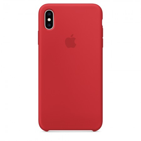 Silicone case на iPhone Xs Max (Red)