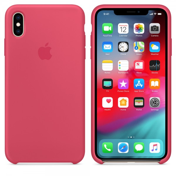 Silicone case на iPhone Xs Max (Hibiscus)