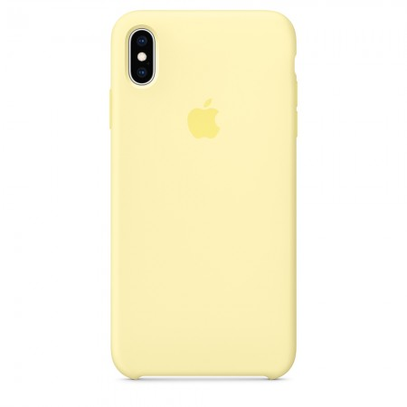 Silicone case на iPhone Xs Max (Mellow Yellow)