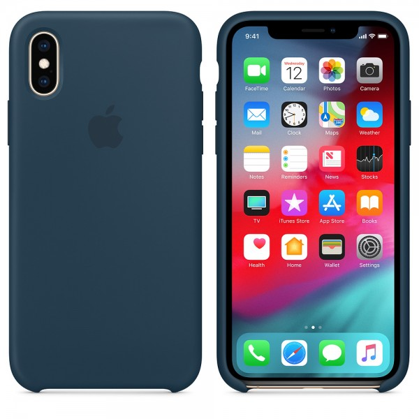 Silicone case на iPhone X/Xs (Pacific green)