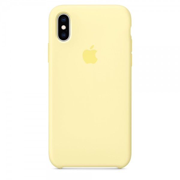 Silicone case на iPhone X/Xs (Mellow yellow)