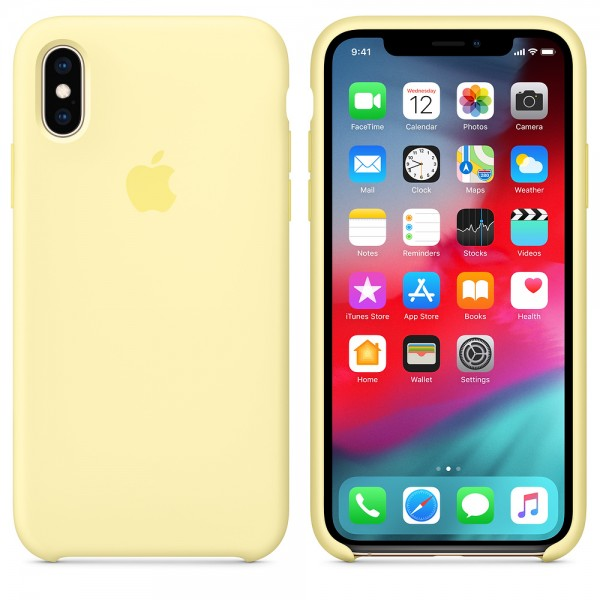 Silicone case на iPhone X/Xs Class 1 (Mellow yellow)