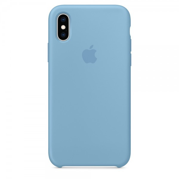 Silicone case на iPhone X/Xs Class 1 (Cornflower)