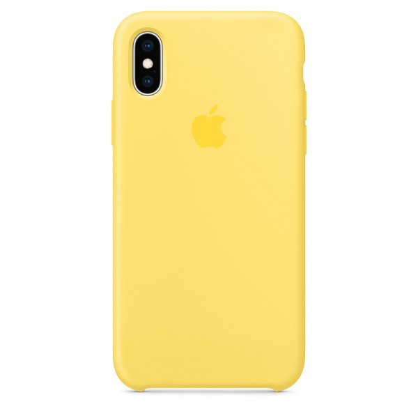 Silicone case на iPhone X/Xs Class 1 (Canary yellow)