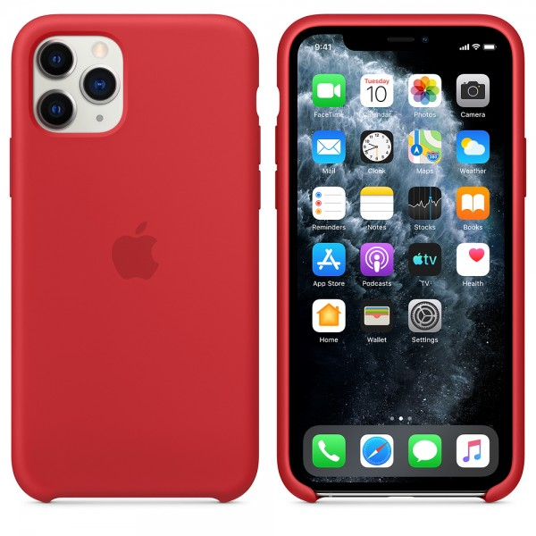 Silicone case на iPhone 11 Pro (Red)