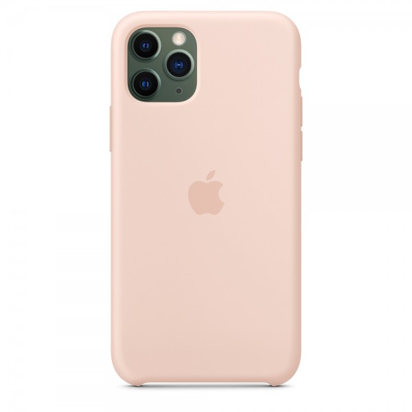 Silicone case на iPhone 11 Pro Max (Pink Sand)