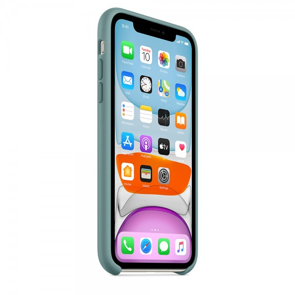 Silicone case на iPhone 11 (Cactus)