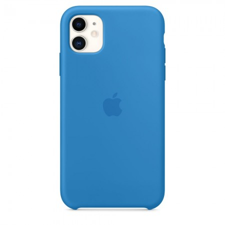 Silicone case на iPhone 11 (Surf blue)