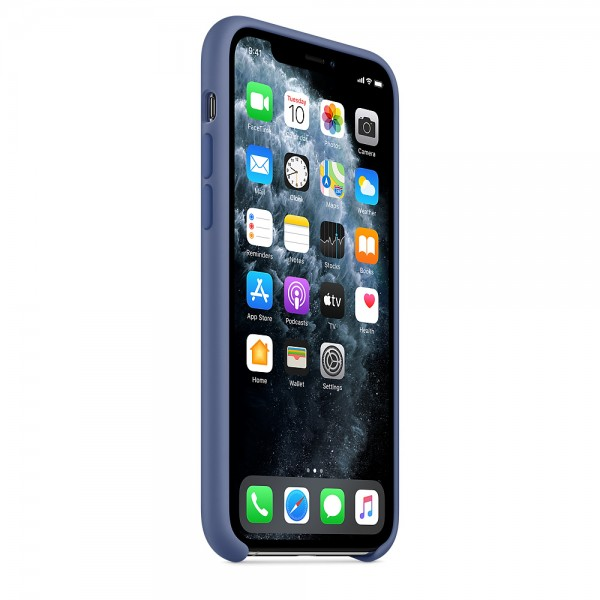 Silicone case на iPhone 11 Pro (Linen blue)