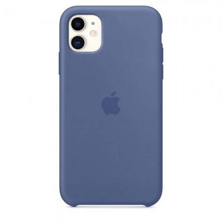 Silicone case на iPhone 11 (Linen blue)